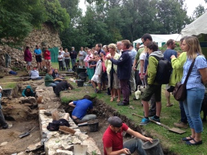 Americans scraping dirt off rocks - and uncovering a potentially undisturbed medieval layer!